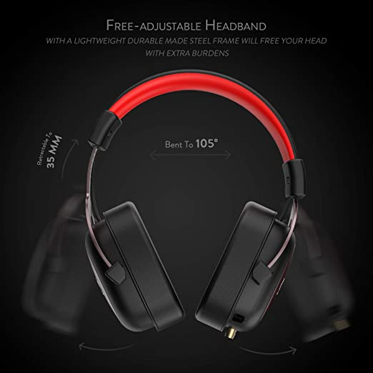 Redragon H510 Zeus Wired Gaming Headset - 7.1 Surround Sound - Memory Foam Ear Pads - 53MM Drivers - Detachable Microphone - Multi Platform Headphone ...