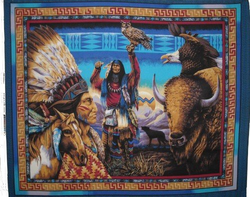 Tribal Elements Native American Buffalo  - Native American Fabric Shopping Results