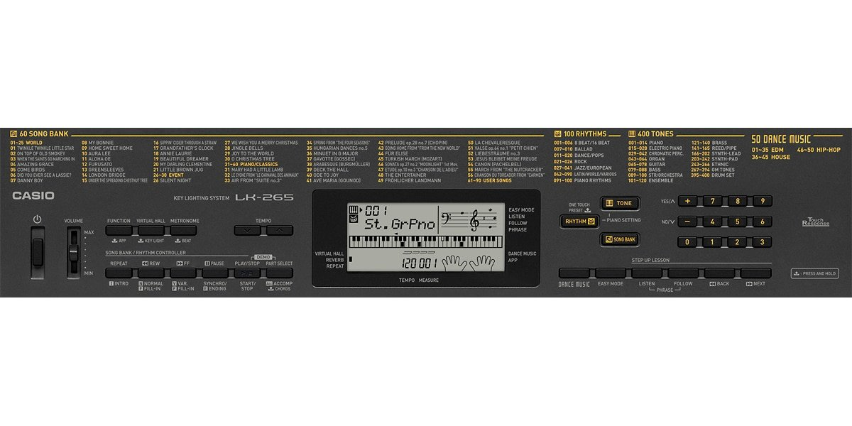 Onboard Features of Casio LK 265