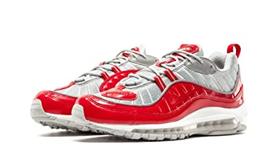 Nike AIR MAX 98 Supreme 844694 600 Red Silver Mens 11.5