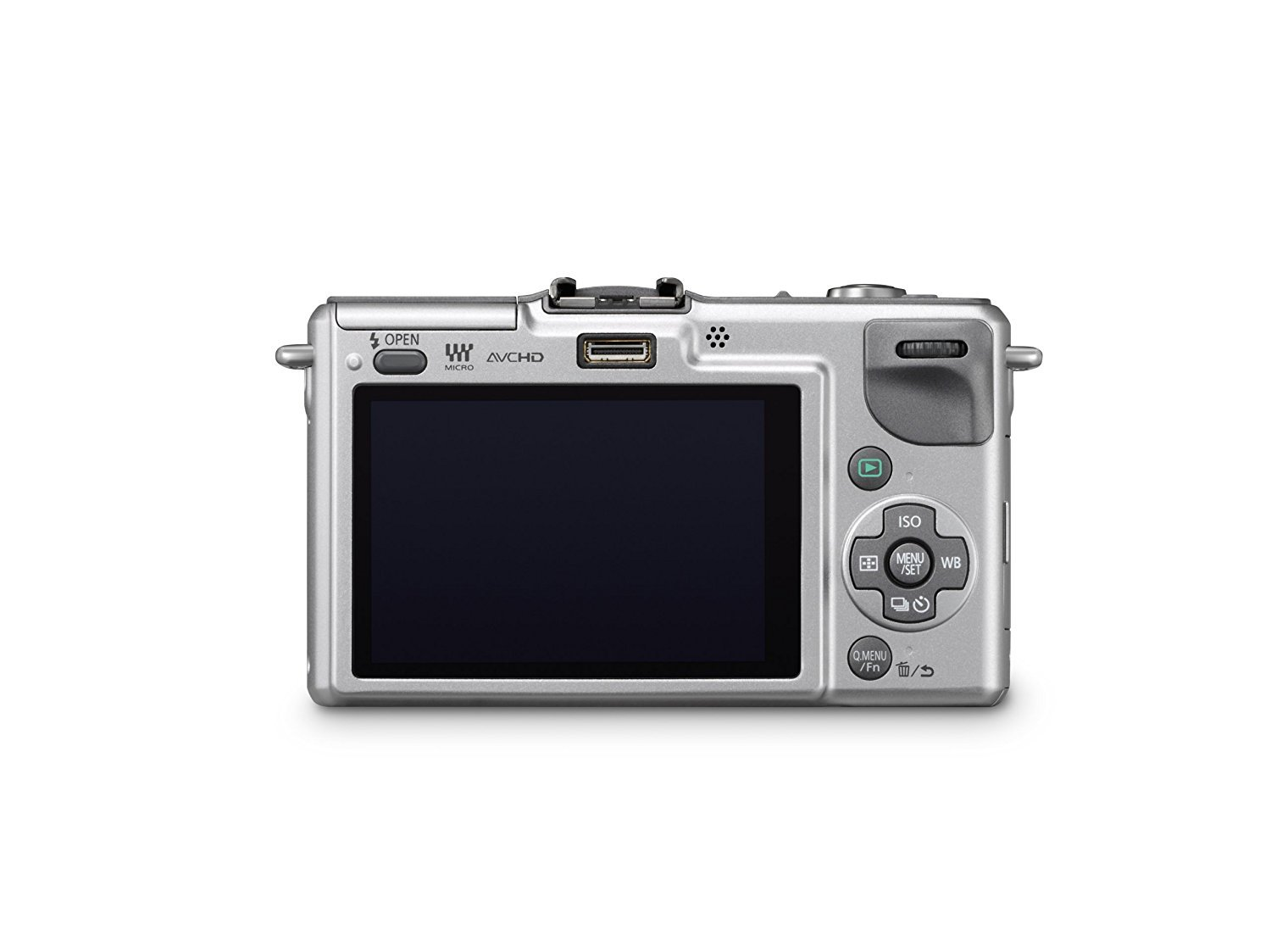Panasonic Lumix DMC-GF2 Digital Micro Four Thirds Camera Body (International Model No Warranty) (Silver) by Panasonic