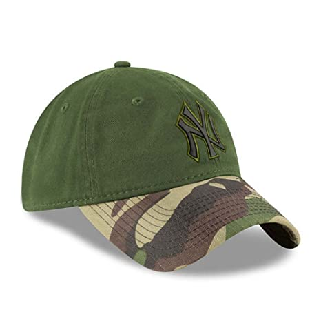 Amazon.com  100% Authentic NY Yankees New Era Memorial Day 9TWENTY  Adjustable Hat - Green Camo  Sports   Outdoors f8b8107a162
