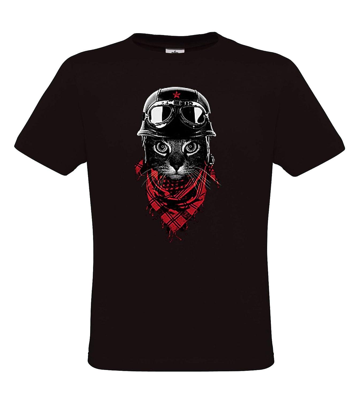 DarkArt-Designs mode de vie T-Shirt Adventurer Cat motif de plaisir regular fit Motif de chats T-shirt pour enfants et adultes