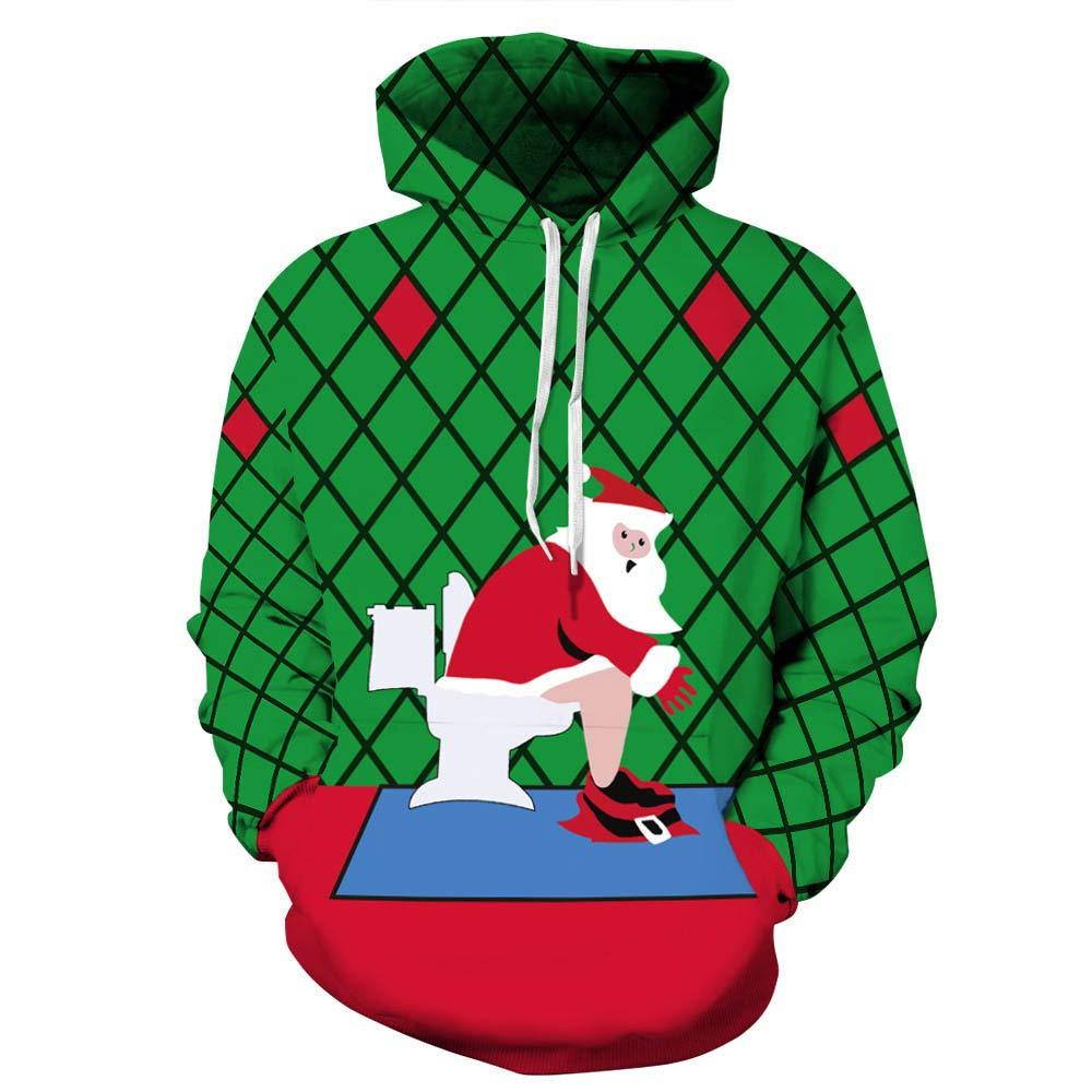 Sudaderas Hombre, BBestseller Hombres 3D Impresión Abrigo Chaqueta suéter de Invierno Hoodies Sudadera con Capucha Navidad: Amazon.es: Ropa y accesorios