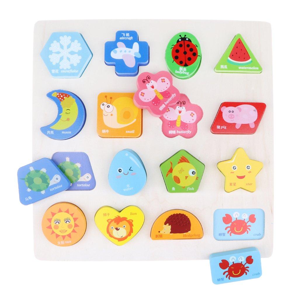 Puzzle Puzzles Bois Majuscule De Conseil Bloc Animal Kesoto Lettre NOknZP08wX