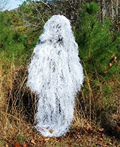 Ghillie Suit Poncho - Synthetic Ultra light - Winter White