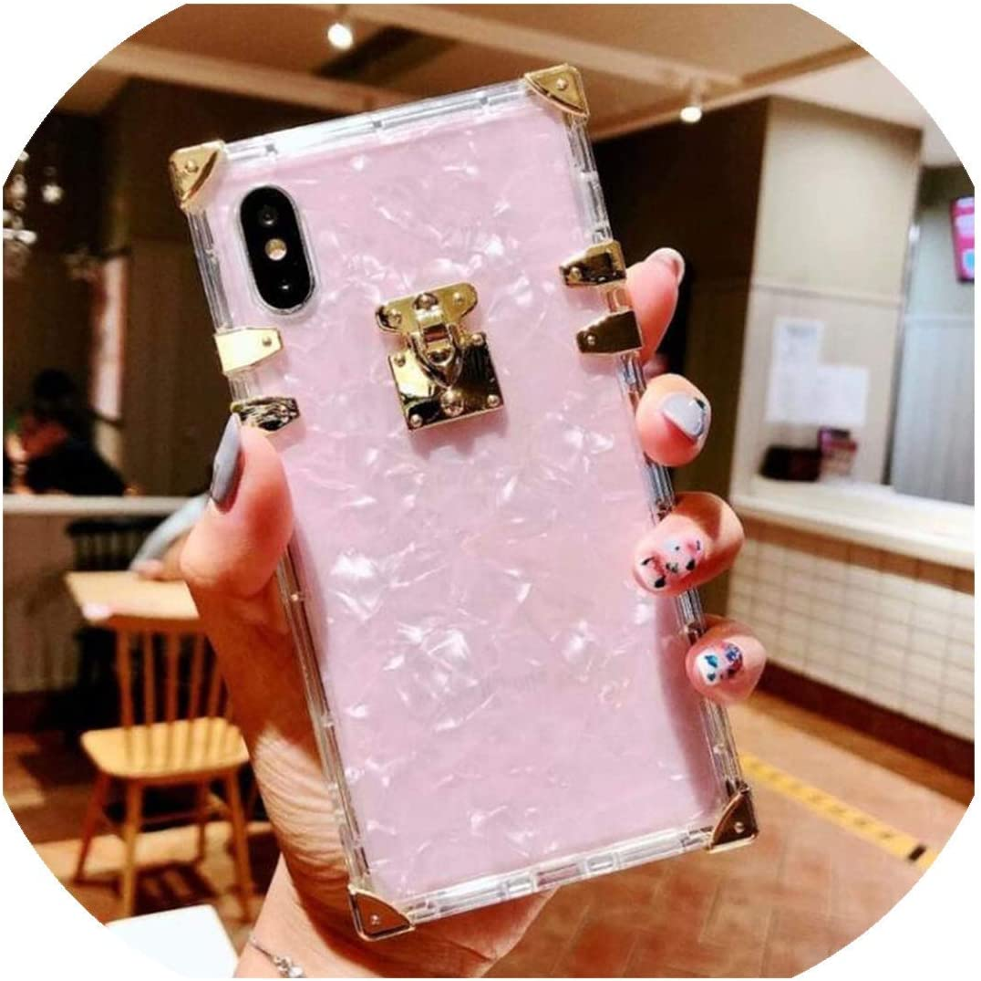 Phone case Luxury Square Clear TPU Case for iPhone 11 Pro Max Soft Silicone Bling Phone Cover for iPhone X XS Max XR for iPhone 6 7 8 Plus,for iPhone 6 6S Plus,Diamond Case A
