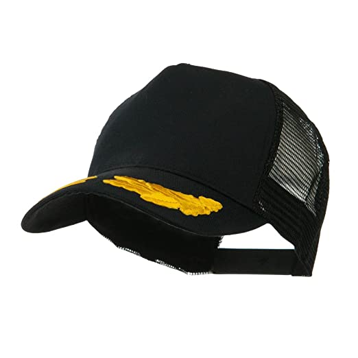 5 Panel Mesh Back Gold Oak Leaves Patch Cap - Black OSFM at Amazon ... 69c059605184