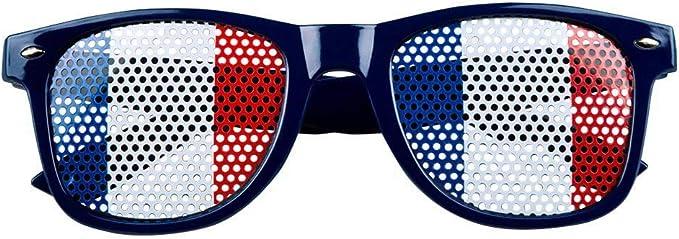 Gafas bandera Francia adulto - Única: Amazon.es: Juguetes y juegos
