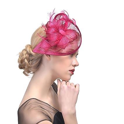 Ssowun Fletion Retro Fascia Piuma Cappello Fiore Clip del Cappello di  Matrimonio Accessori per Capelli da Sposa  Amazon.it  Casa e cucina 3ecca091955e