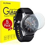 AILRINNI Samsung Galaxy Watch 46mm Screen Protector [5 Pack], 0.33mm Tempered Glass [Anti-Scratch] [Anti-Shatter] for Samsung Galaxy Smart Watch SM-800/SM-R805
