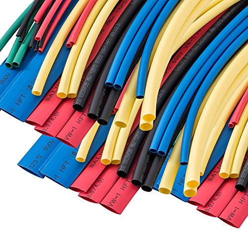 140PCS 8Inch Heat Shrink Tubing 2:1, Electrical Cable Wire Wrap Assorted Electric Insulation Tube Kit