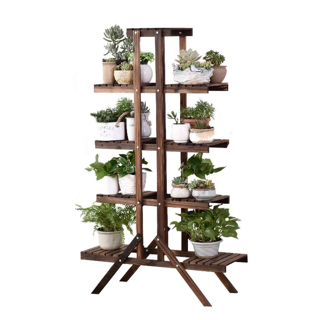 GJ@ バルコニーフラワースタンド5層木製フラワースタンドガーデンガーデンフラワーポット装飾ディスプレイスタンドフラワー植物収納ラック5ラダー - 屋内/屋外が利用可能です B07SGWZC7C