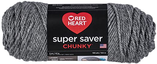 Red Heart Super Saver Chunky Yarn-Grey Heather 3 Pack