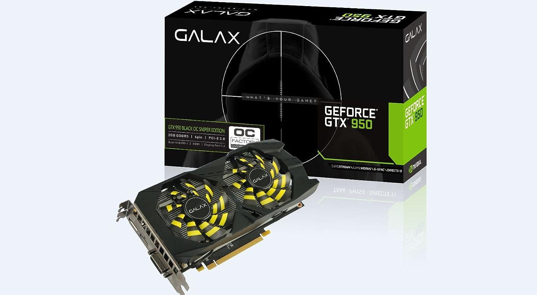 GALAX NVIDIA GEFORCE GTX 950 OC Sniper 2GB GeForce GTX 950 ...