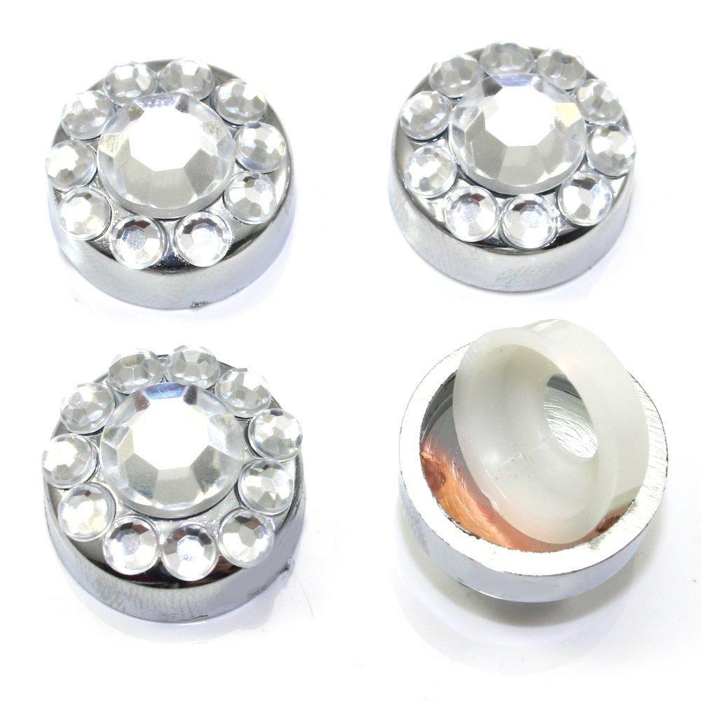 4 klar, diamant Kristalle bling KFZ Nummernschild Rahmen Schraube ...