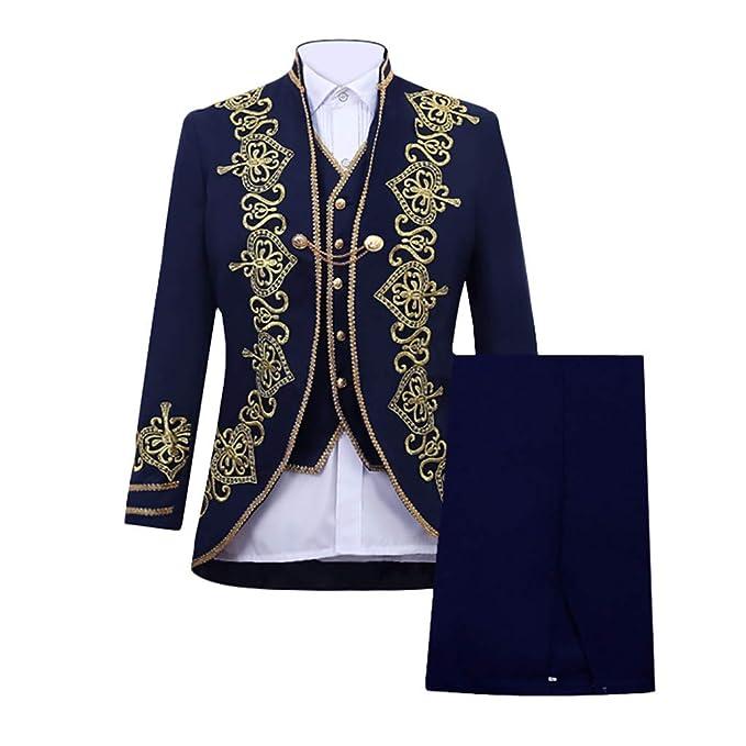 Amazon.com: Leegor Men Premium Suit Skinny Suit 3-Piece ...