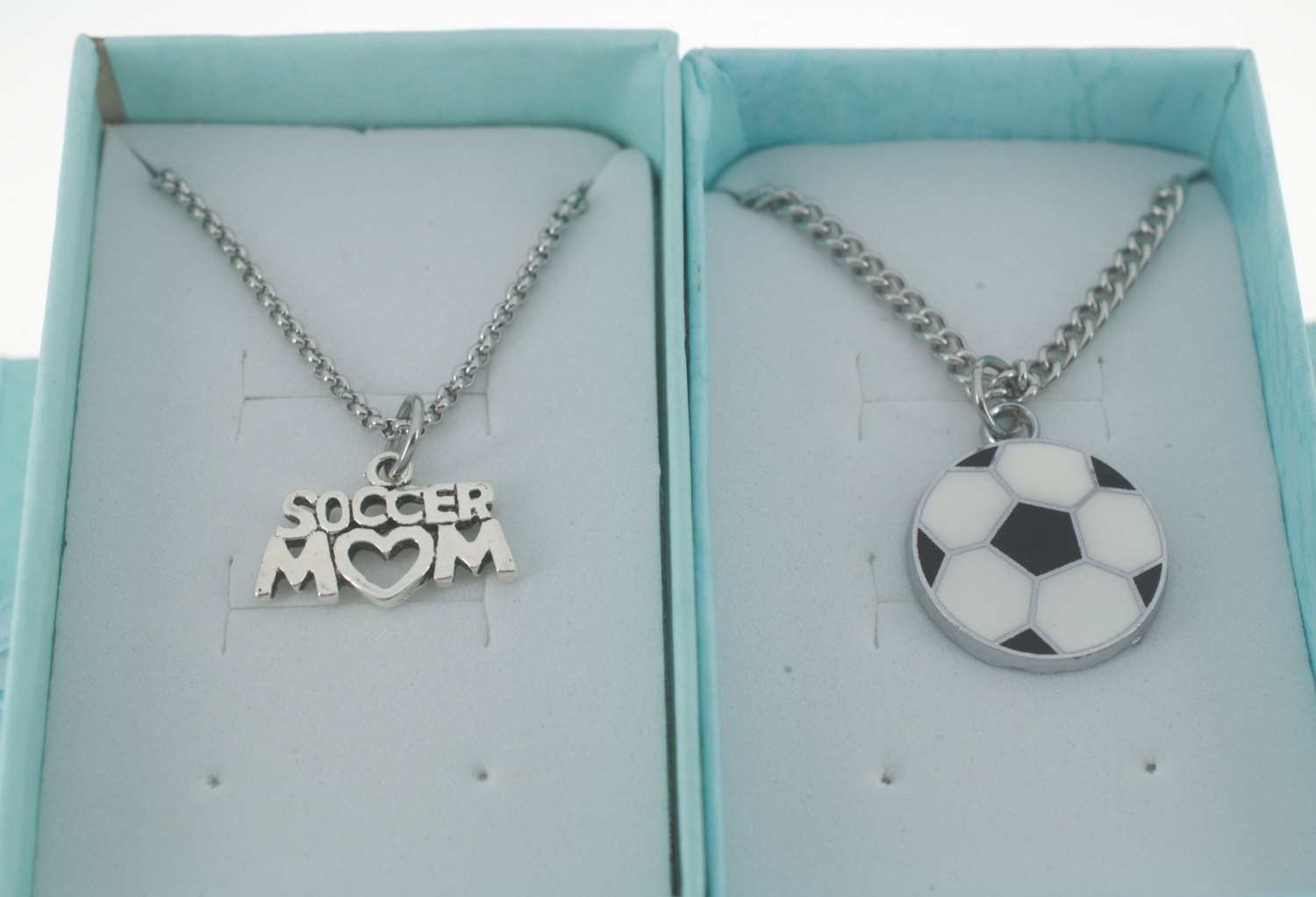 Amazon.com: Mother Son Matching Jewelry - Soccer mom necklace and ...