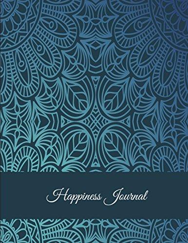 Happiness Journal: Classic Mandala Design, 5 Minutes Journal Daily Self Love, Habit Tracker Large Print 8.5 X 11 Grateful Journal, Positivity Journal, Daily Inspiration Journal