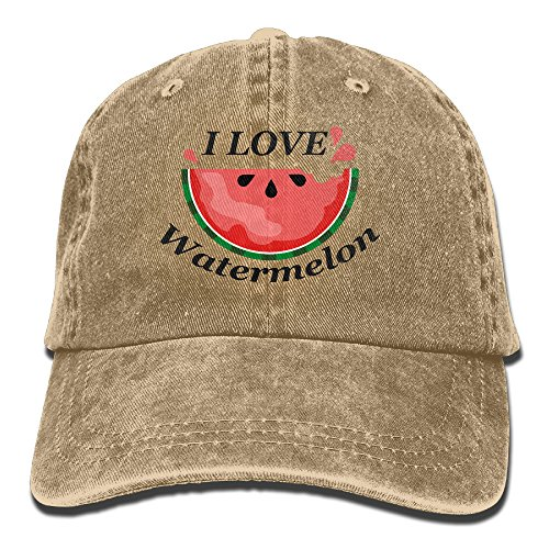 I Love Watermelon Cowboy Hat Adult Adjustable Printing - Adult Watermelon Costumes