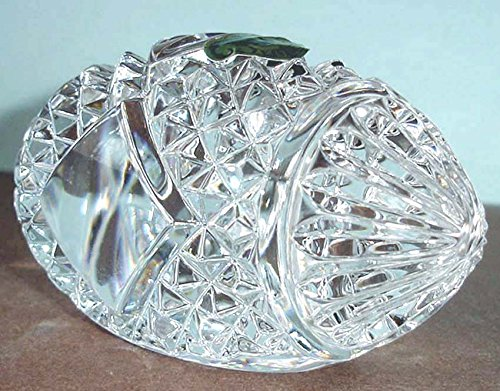 Crystal Waterford Football (Waterford Crystal Football Blank Panel Paperweight Made in Ireland New In Box)