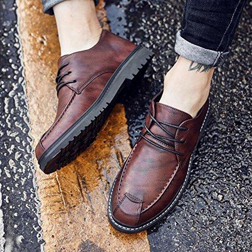 Chaussures Chaussures Des Hommes Des Le Vers Formelles Cuir Chaussures D'affaires B Ressort Lacet Formelles Haut Occasionnelles Faux Chaussures De Occasionnelles De Élégant D'hommes Les Chaussures ztEqvxwqR