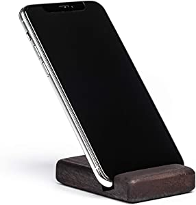Wooden Mobile Phone Holder, Cute Cell Phone Stand, Wooden Smartphone Desk Holder, Portable Desktop Smartphone Stand, Universal Cell Phone Holder Compatible with iPhone Models