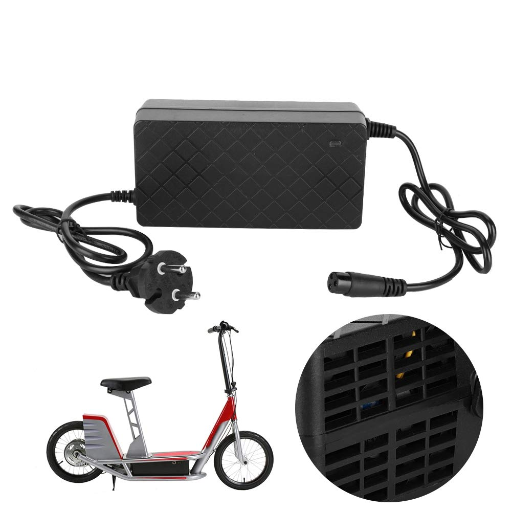 Akozon Scooter el/éctrico Cargador de bater/ía apto para E100 E200 E300 E125 E150 E500 Enchufe de la UE 90-230V