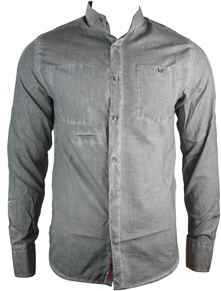 RNT23 Hombre freizeits Camisa Cuello Chino Italiano Style ...