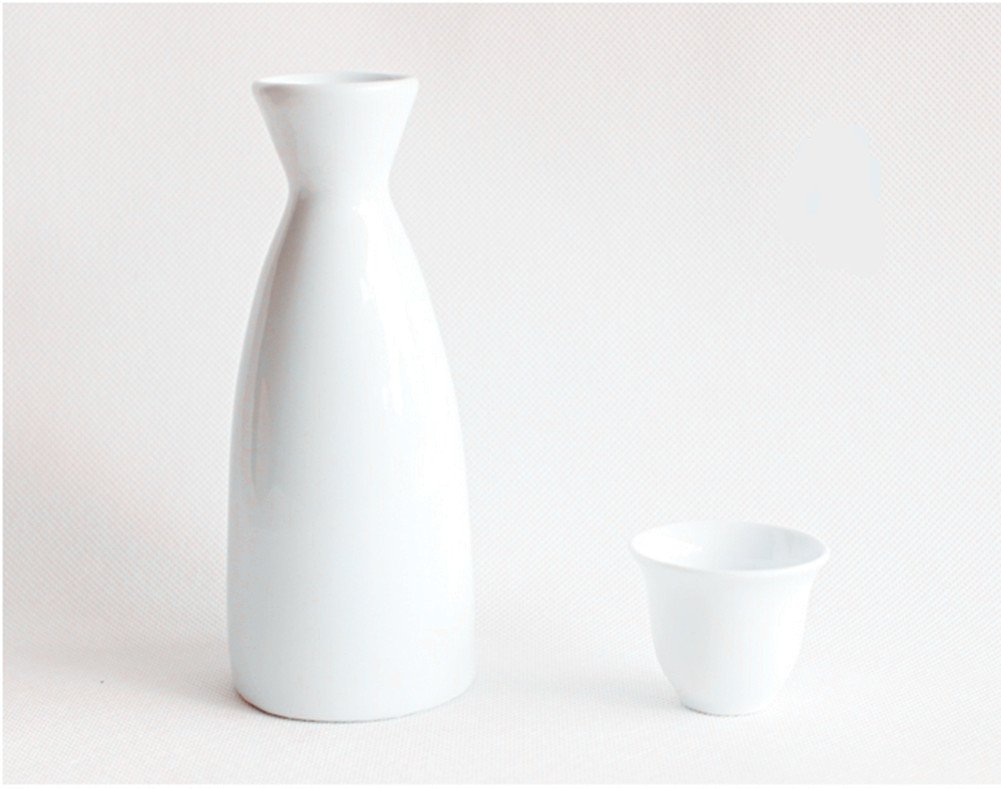 Moyishi Japanese Style Sake Set - WHITE 1 Sake Pot and 4 Cups