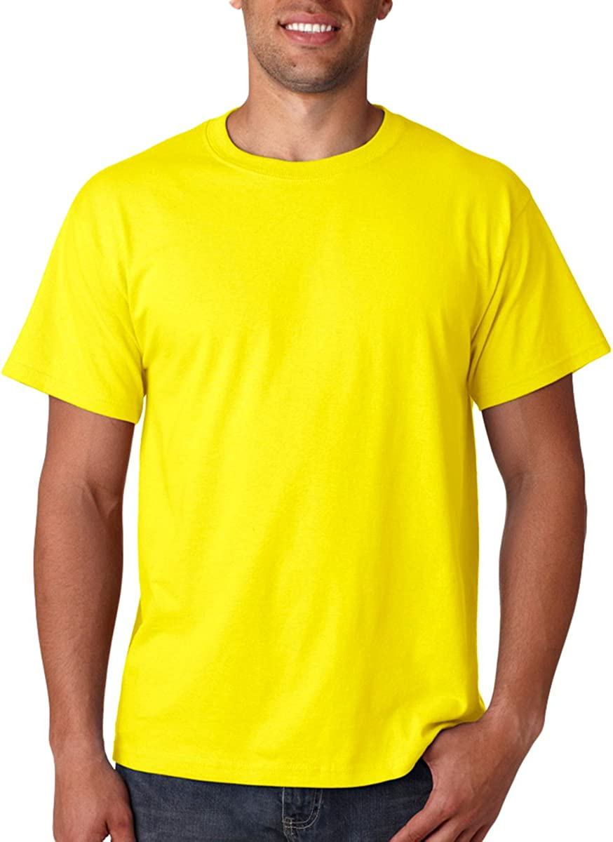 Fruit of the Loom Childrens T Shirt in Yellow Size 7-8 SS6B