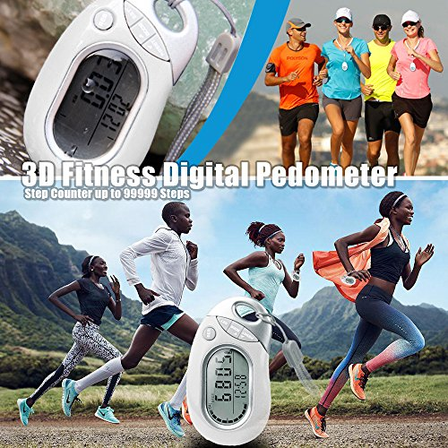 ARCHEER Pedometers Walking 3D Sports Trackers Fitness Digital Pedometer for Walking, Accurately Track Steps and Miles, Calories Burned & Speed. Fitness Tracker & Calorie Counter for Men & Women