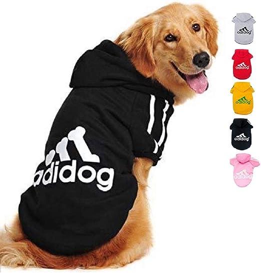 Ducomi Adidog - Sudadera con Capucha para Perros en Algodón Suave - Costuras Resistentes - Disponibles de XS a 8XL - Se envía Desde España (XS, Negro): Amazon.es: Productos para mascotas