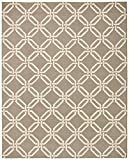 Stone & Beam Contemporary Interlocking Rings Wool Rug, 8' x 11', Coffee