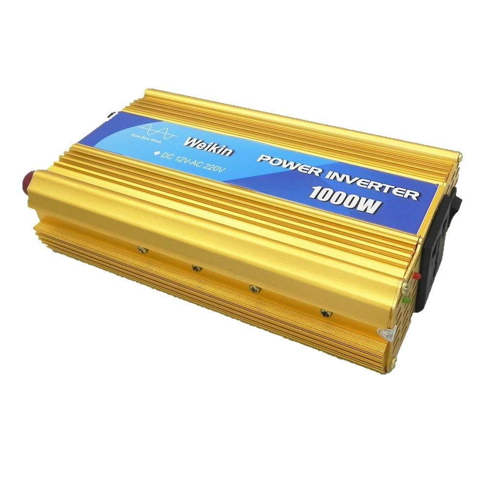 WEIKIN Pure sine Wave Power Inverter 1000W DC 12V to AC 220V Converter