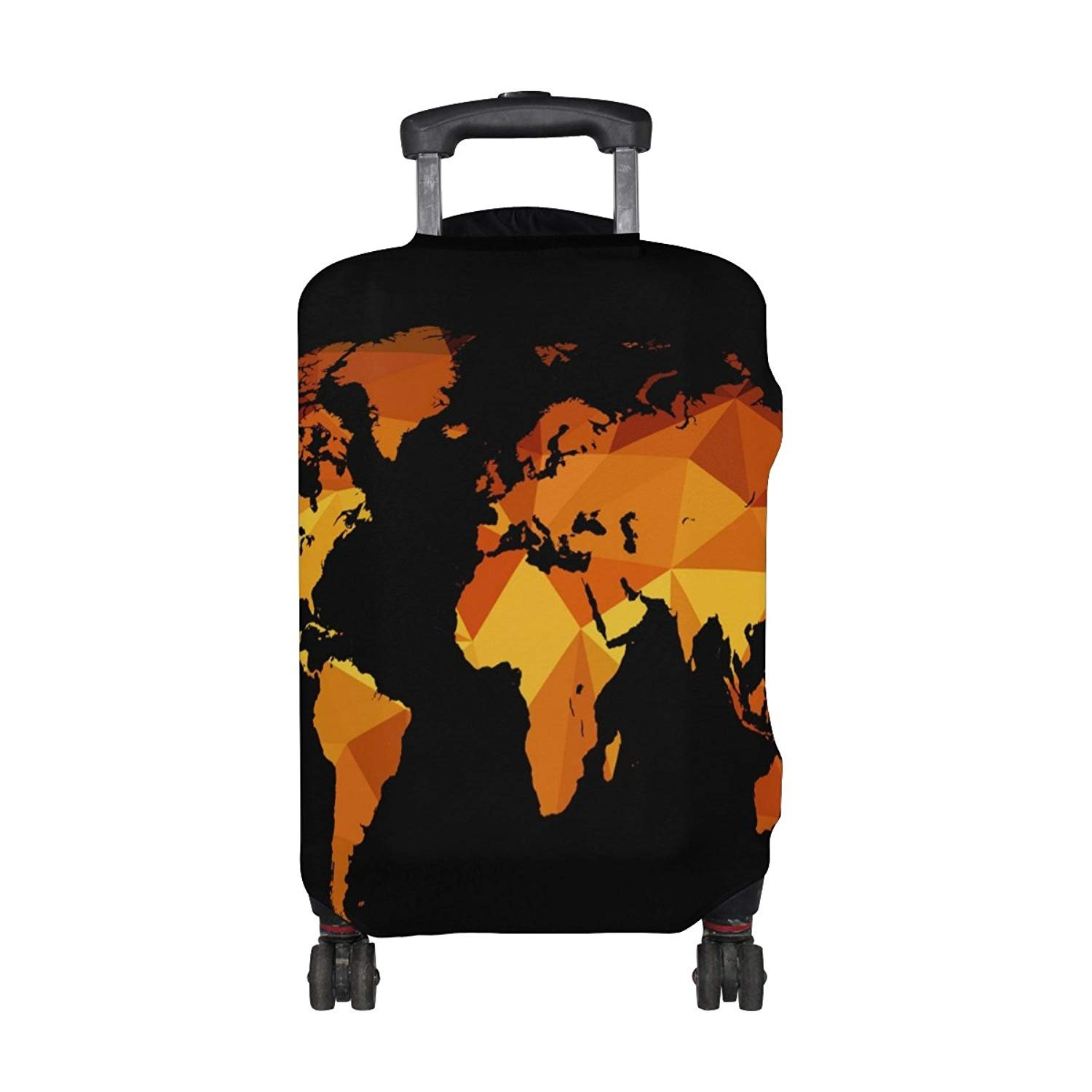 Weed Leaves Travel Luggage Cover Suitcase Protector Washable Zipper Baggage Cover