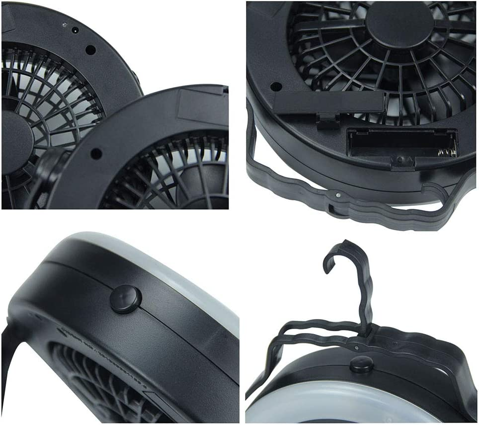 HLSH Mini Foldable Large Wind Pocket Fan USB Rechargeable Adjustable Ultra-Quiet Desktop Air-Circulation Cooling Travel Office