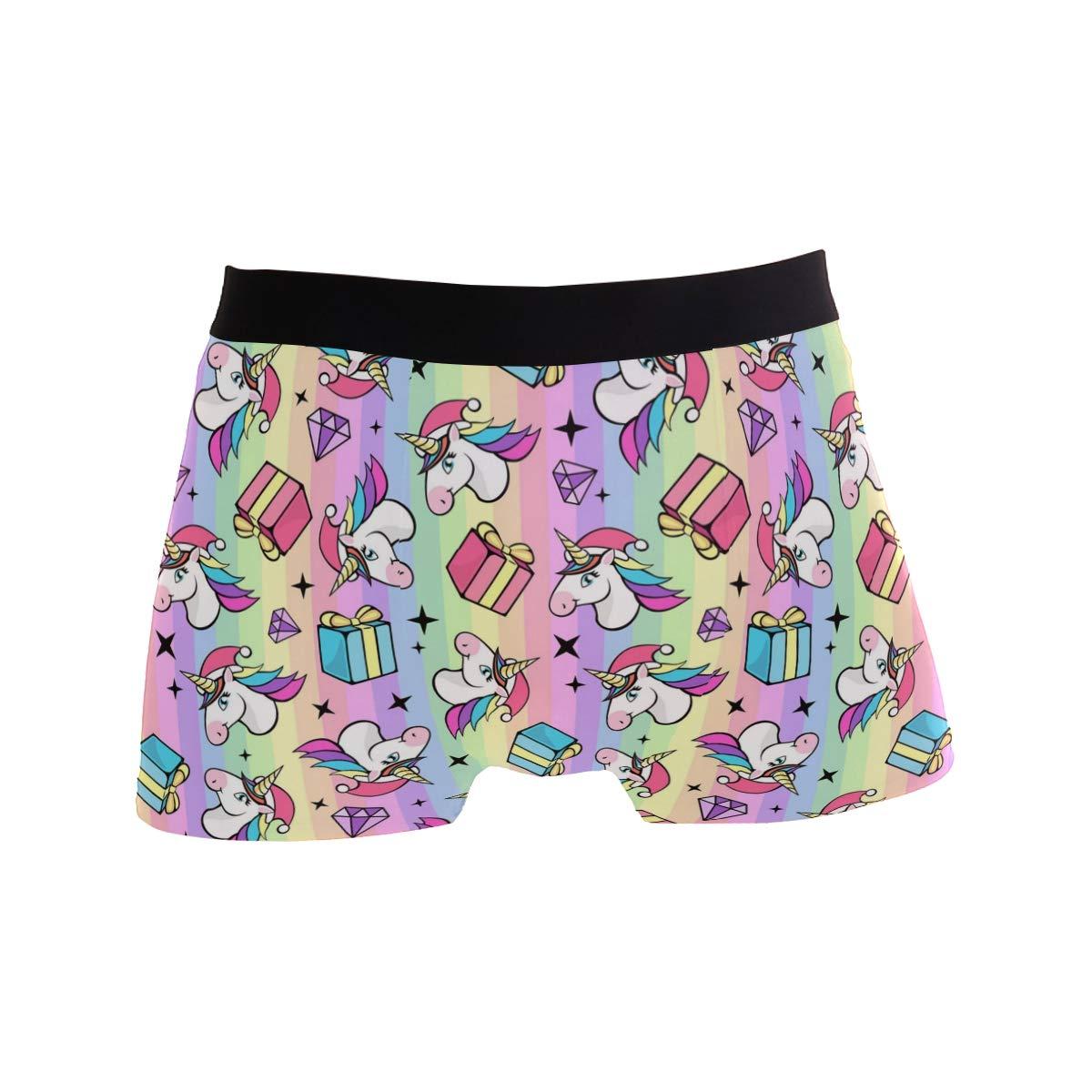 Mens Fantastic Unicorn Underwear Boxer Briefs Ultra Soft Comfortable