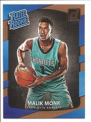 Malik Monk Charlotte Hornets / Kentucky Wildcats 2017-18 Panini Donruss Rated Rookie Basketball Card #199
