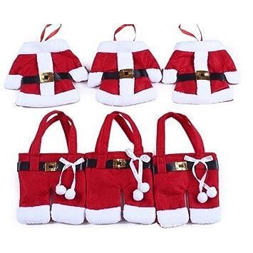 BWB - Decoración para la cubertería, diseño de traje de Papá Noel