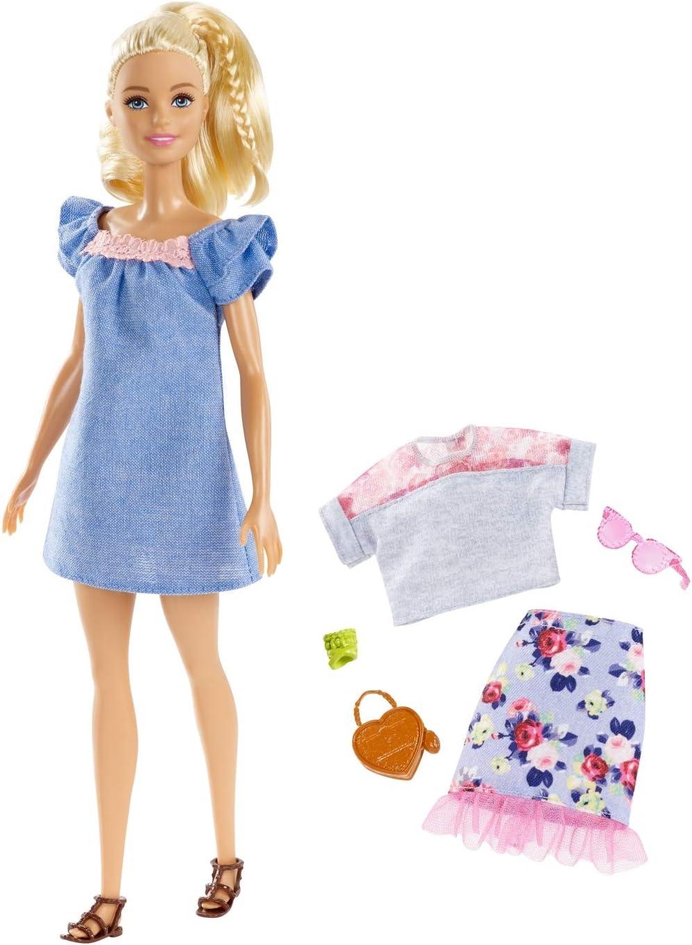Amazon.es: Barbie-FRY79 Muñeca Fashionista Rubia con Modas ...