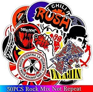 DADATU Pegatinas 50 Unids Pack Rock Pegatinas Set Heavy Metal ...
