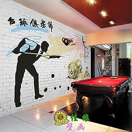 tantoto 3d Wall Paper 3d Sin Costuras pared malereien habitaciones billar billar KTV entretenimiento Fitness habitación dormitorio Gran Fondo de fondo de: Amazon.es: Bricolaje y herramientas