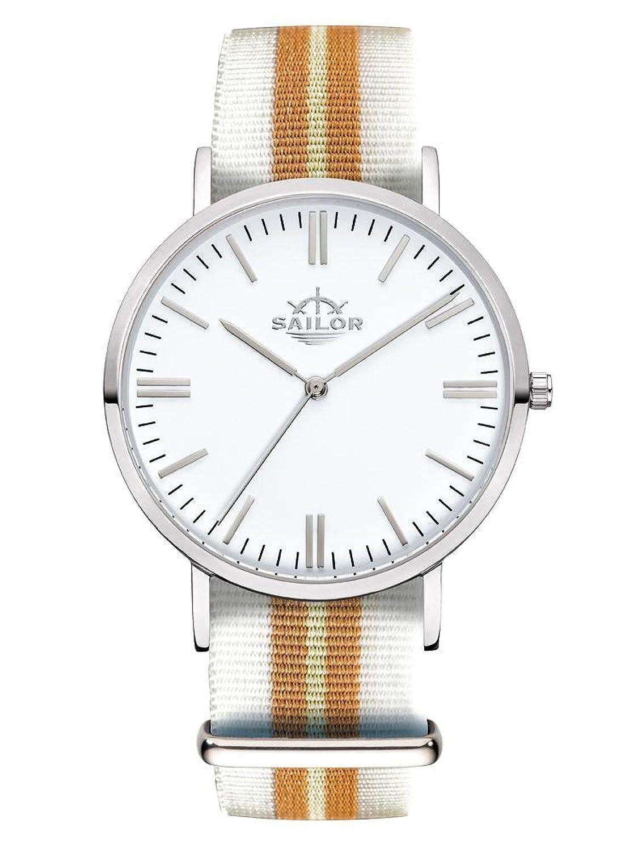 Sailor Armbanduhr Classic Beach mit Nylonarmband - Farbe Ziffernblatt:weiß - Durchmesser:36mm