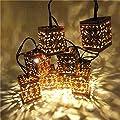 Sunniemart 10 Led Solar Christmas Lights Outdoor Lantern Lights for Christmas Decorations Outdoor Lighting