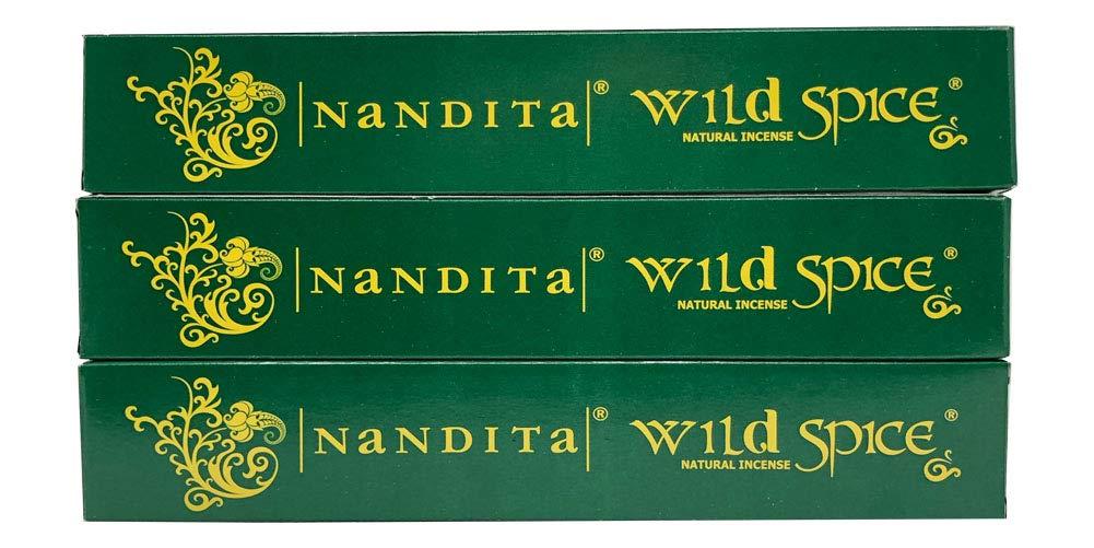 Nandita Wild Spice プレミアムナチュラルマサラ香スティック 3本パック (各15グラム) B07HSLMN97