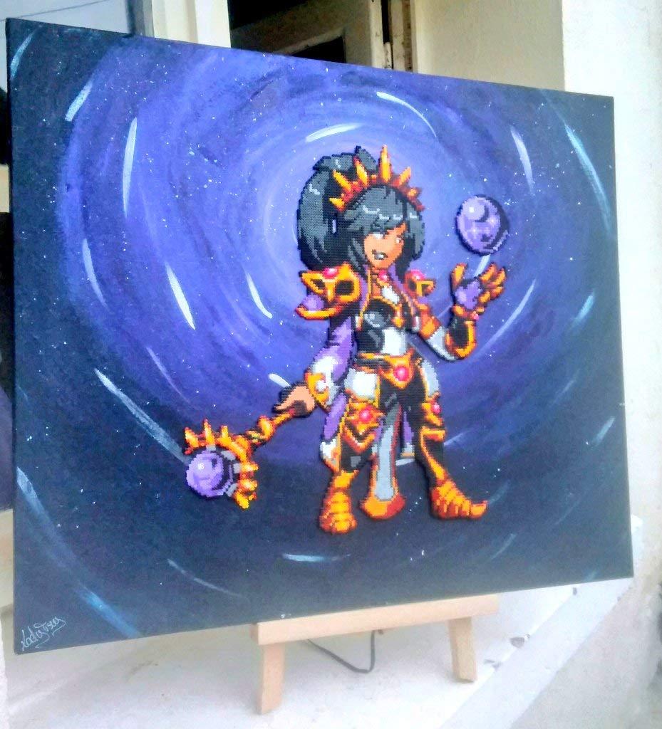 Amazon com: Canvas/Frame Li Ming - Diablo 3 - Hama Beads