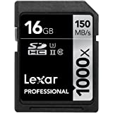 Lexar Professional 1000x SDHC/SDXC UHS-IIカード 16GB (最大読込 150MB/s, 最大書込 40MB/s)[国内正規品] 無期限保証 LSD16GCRBJPR1000