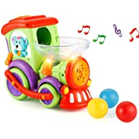 Trenino elettrico per piccoli bimbi con musica e luci ,non si ferma contro gli ostacoli,ha palline che escono mentre va,davvero un bellissimo gioco educativo per i vostri bambini