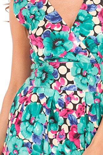 Pistachio - Vestido - sujetador bandeau - Sin mangas - para mujer Floral - Green